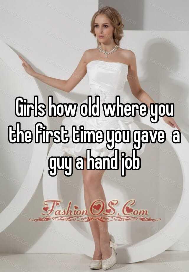 First Time Handjob