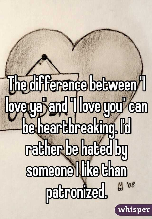 what is the difference between love and like someone