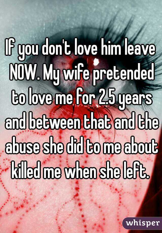 What to do if your wife wants to leave you