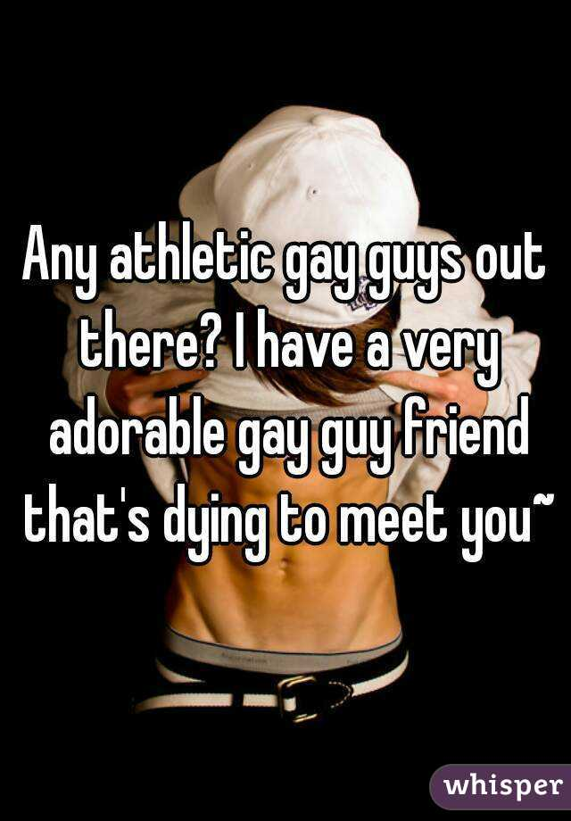Any athletic gay guys out there? I have a very adorable gay guy friend that's dying to meet you~