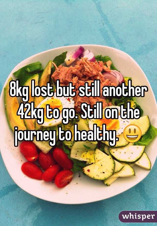 8kg lost but still another 42kg to go. Still on the journey to healthy. 😃