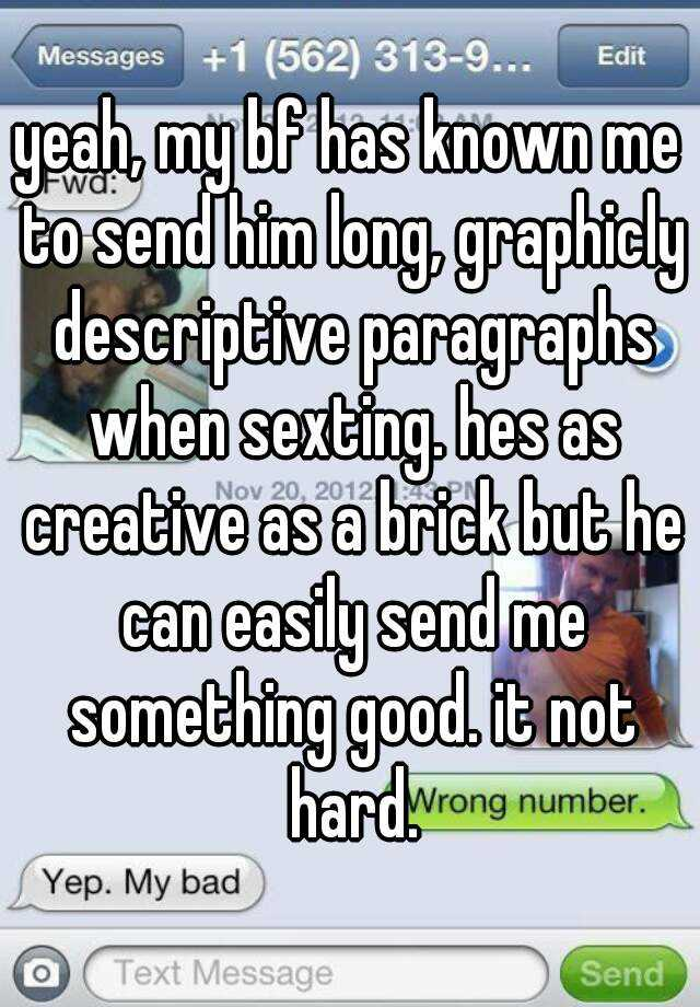 long sexting messages