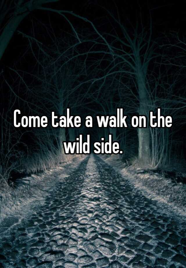 Take A Walk On The Wild Side Cover Versions Of Walk On The Wild