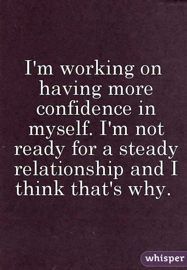 having confidence in a relationship