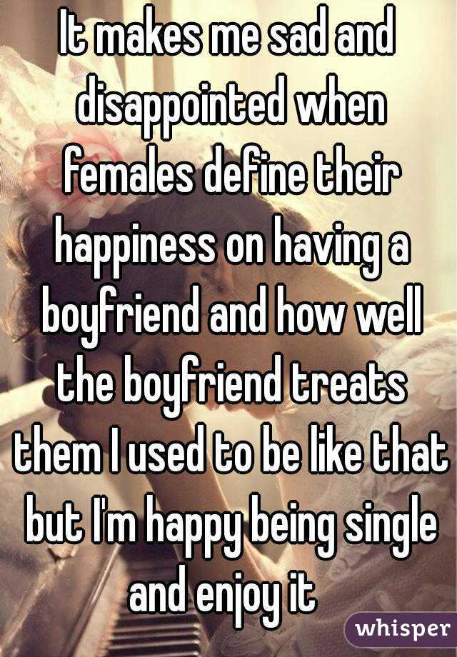 being single is making me depressed