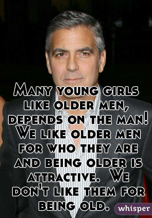 older and caption girl Young man