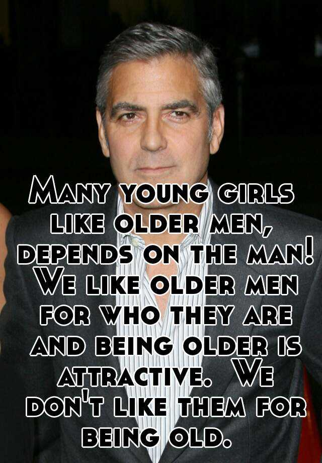 Young girls attracted to older men