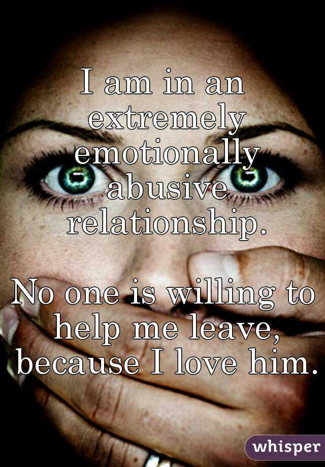 i am the abuser in a relationship