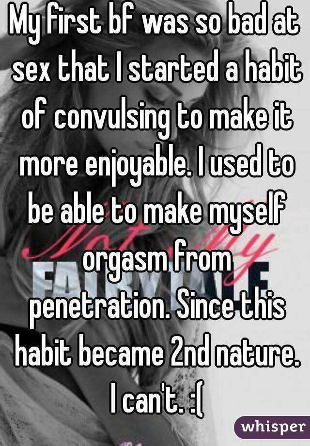 So bad at sex