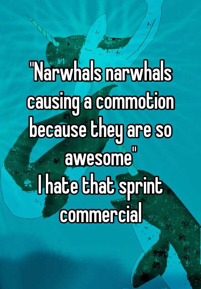 Narwhals Narwhals Causing A Commotion Because They Are So