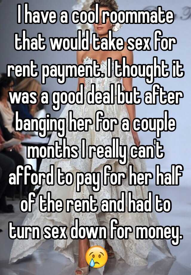 Sex or rent pament stories