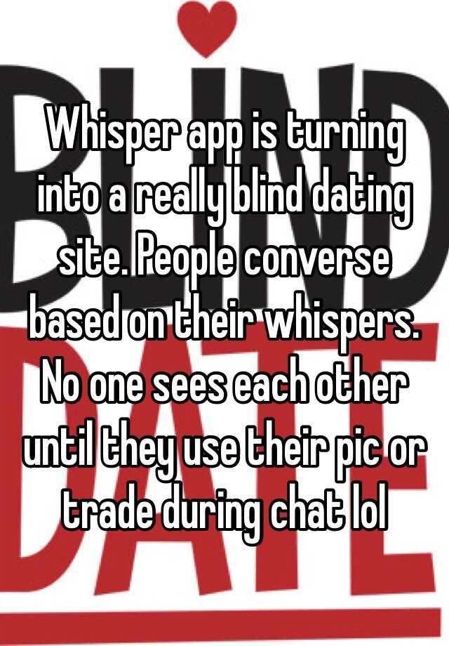 Whisper dating site