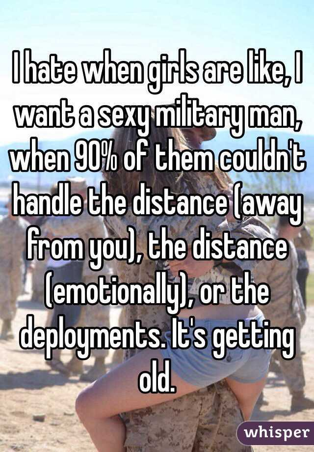 I want to date a military guy