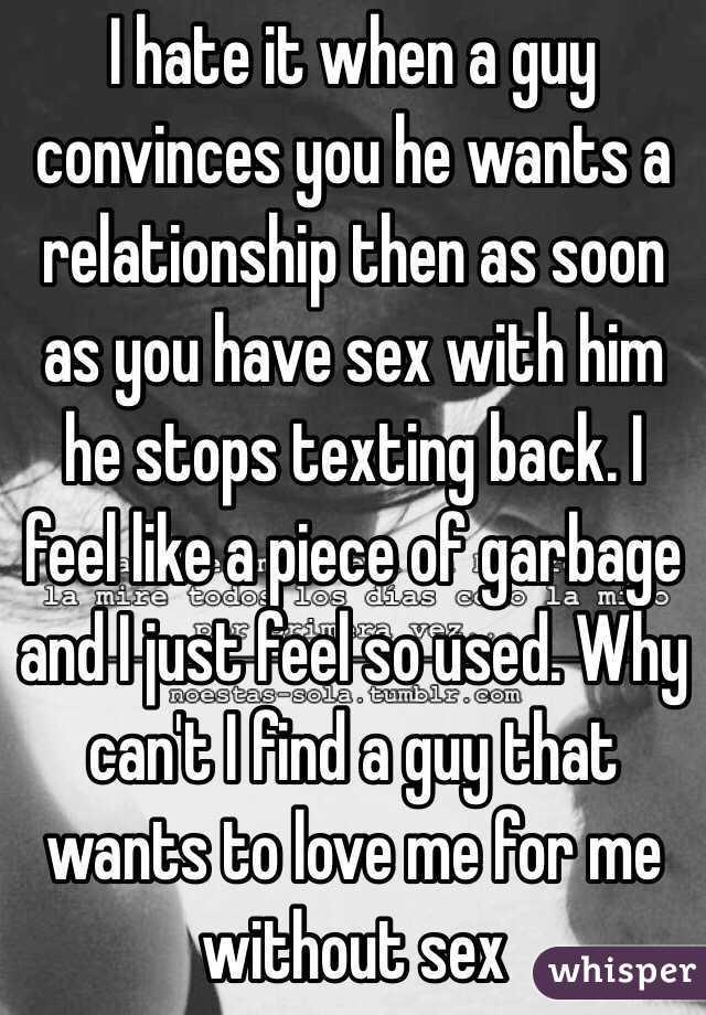 When a man just wants sex