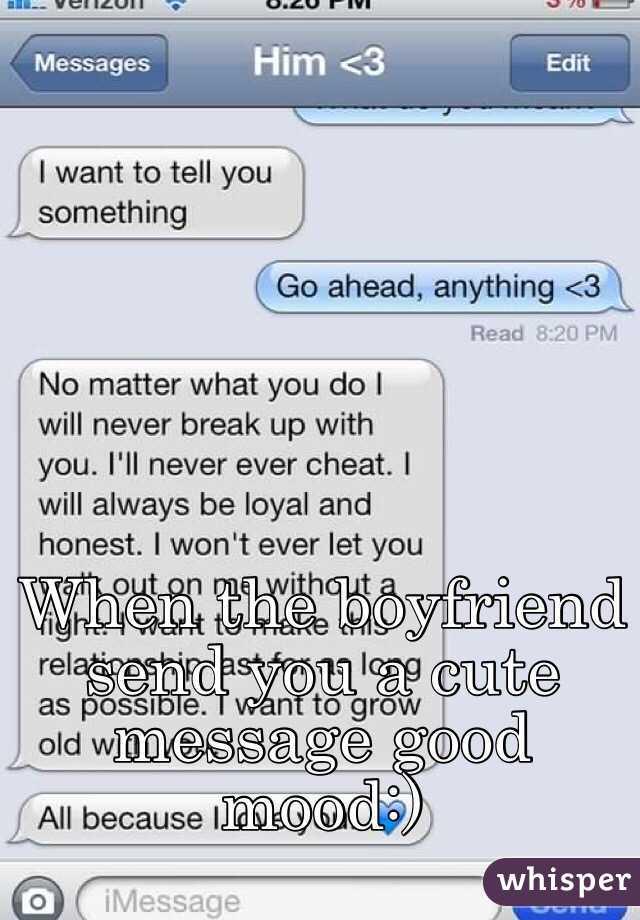 Cute boyfriend saying