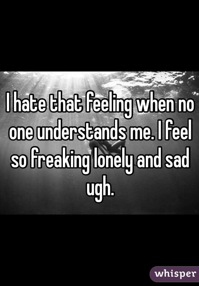 I Feel So Lonely Nobody Gets Me