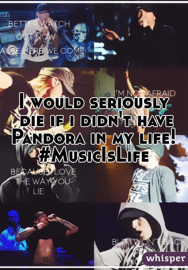 I would seriously die if i didn't have Pandora in my life!  #MusicIsLife
