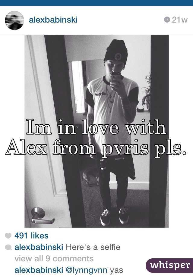 Im in love with Alex from pvris pls.