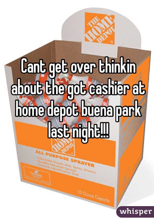 Cant get over thinkin about the got cashier at home depot buena park last night!!!