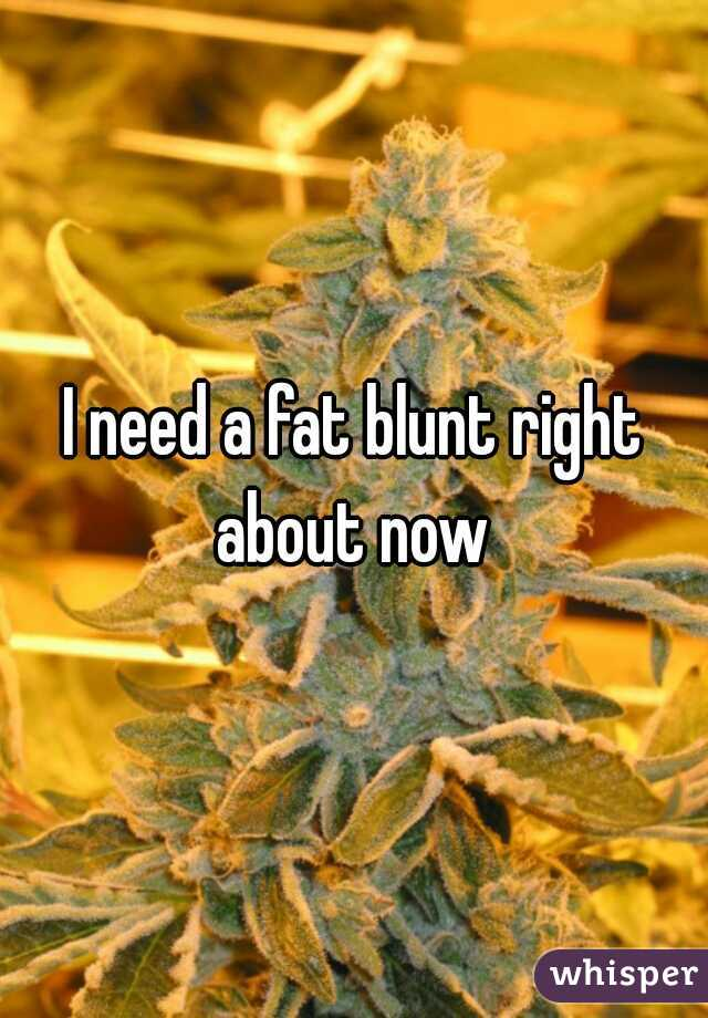 I need a fat blunt right about now