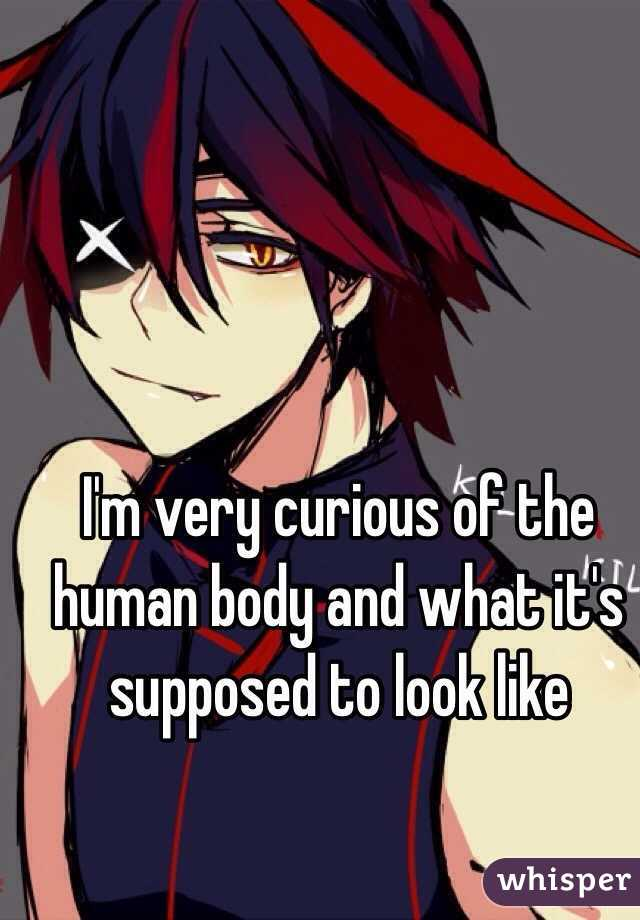 I'm very curious of the human body and what it's supposed to look like