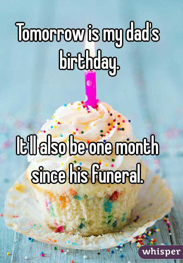 Tomorrow is my dad's birthday.   It'll also be one month since his funeral.