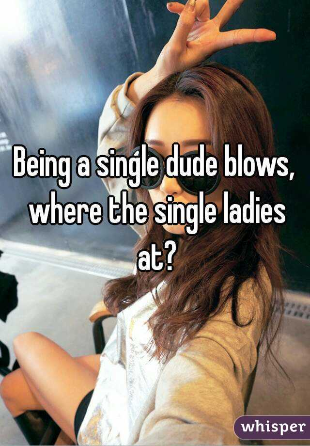 Being a single dude blows, where the single ladies at?
