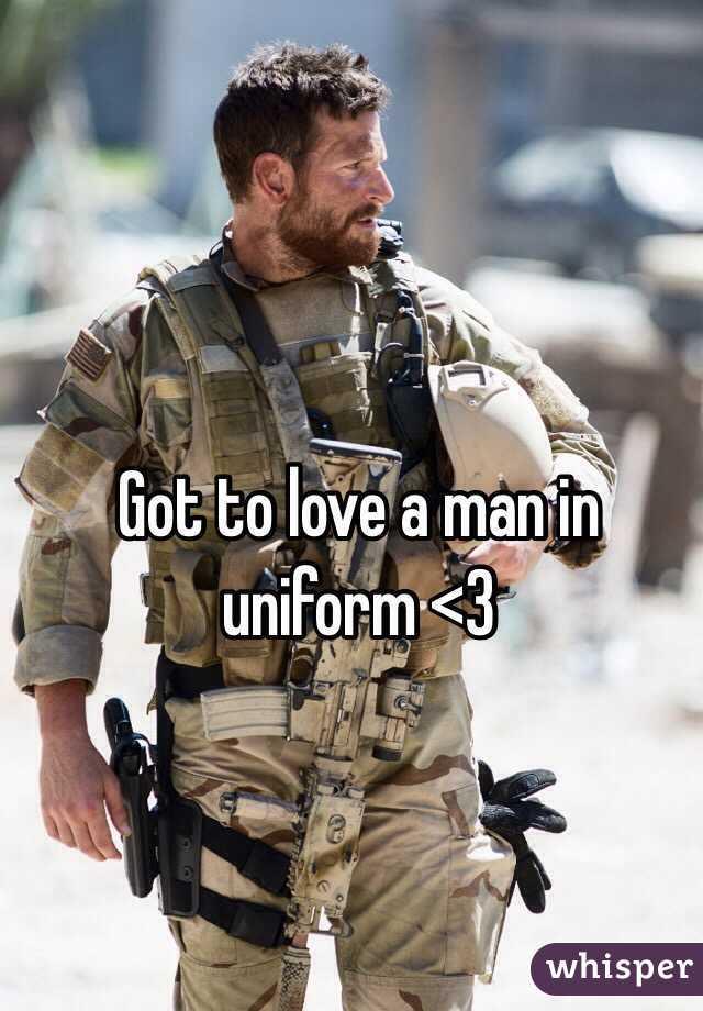 Got to love a man in uniform <3