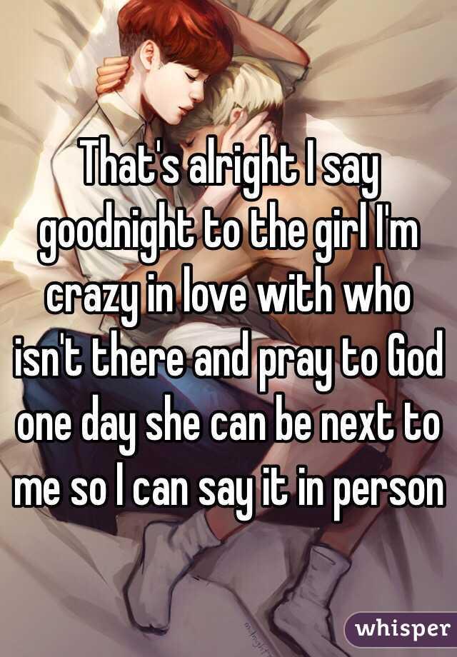 girl says goodnight
