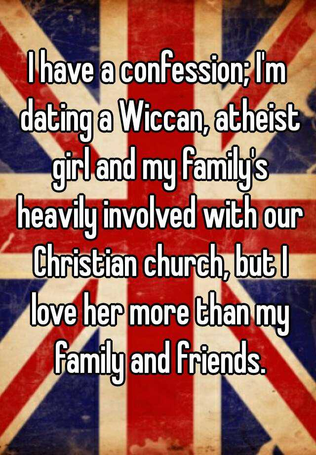 Wiccan dating a christian