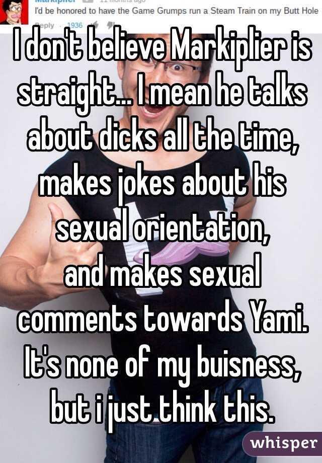Jokes about sexual orientation
