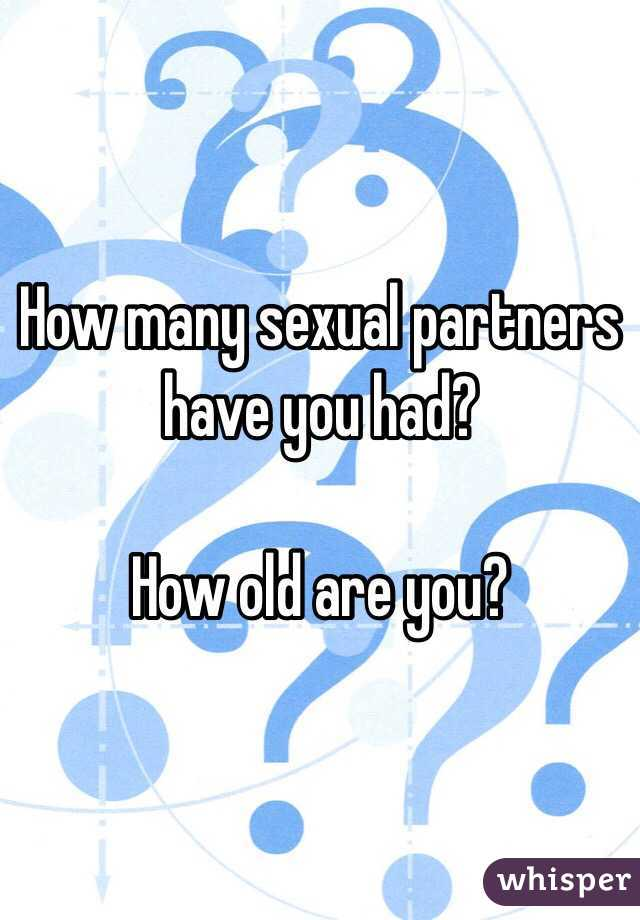 Had have many partner sexual