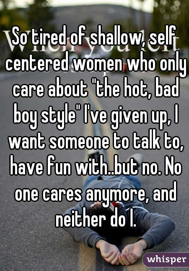 dealing with self centered women