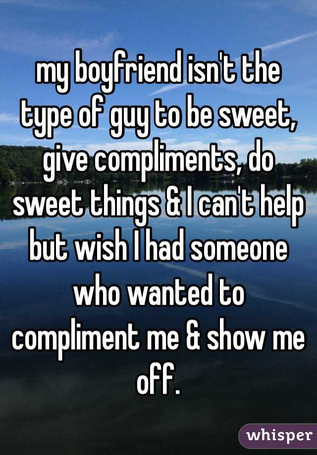 how to give a guy a compliment