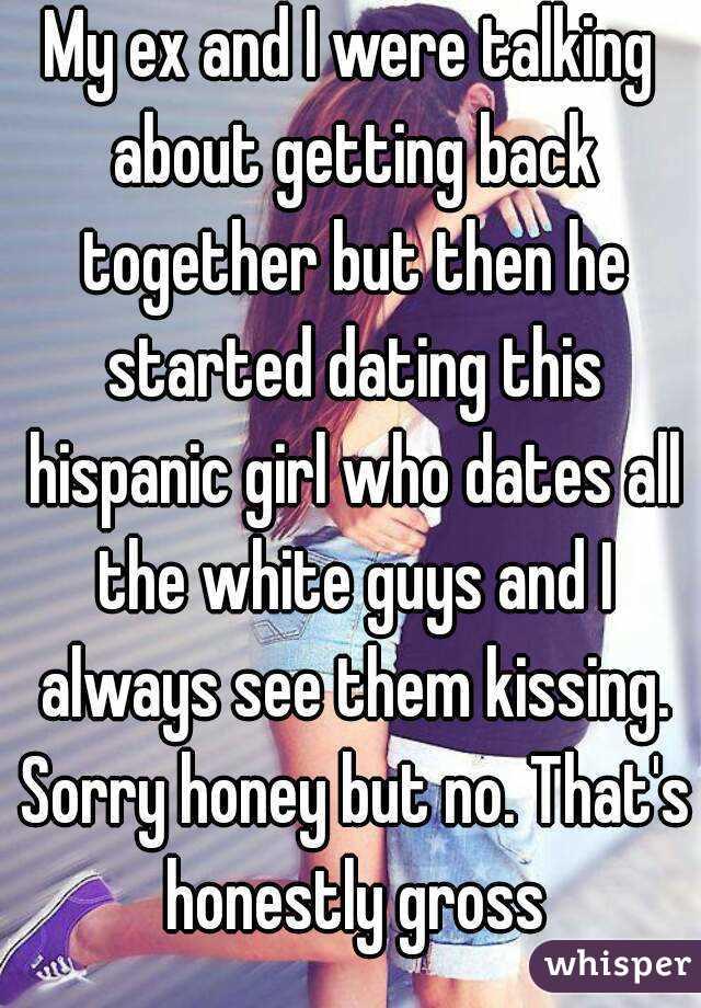 White guy dating hispanic girl