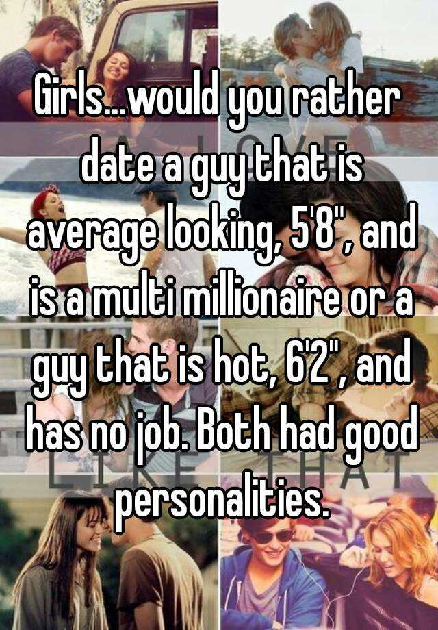 dating an average looking guy