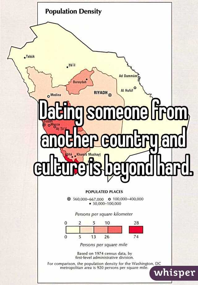 Dating from another country