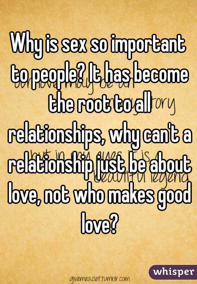 Is sex important