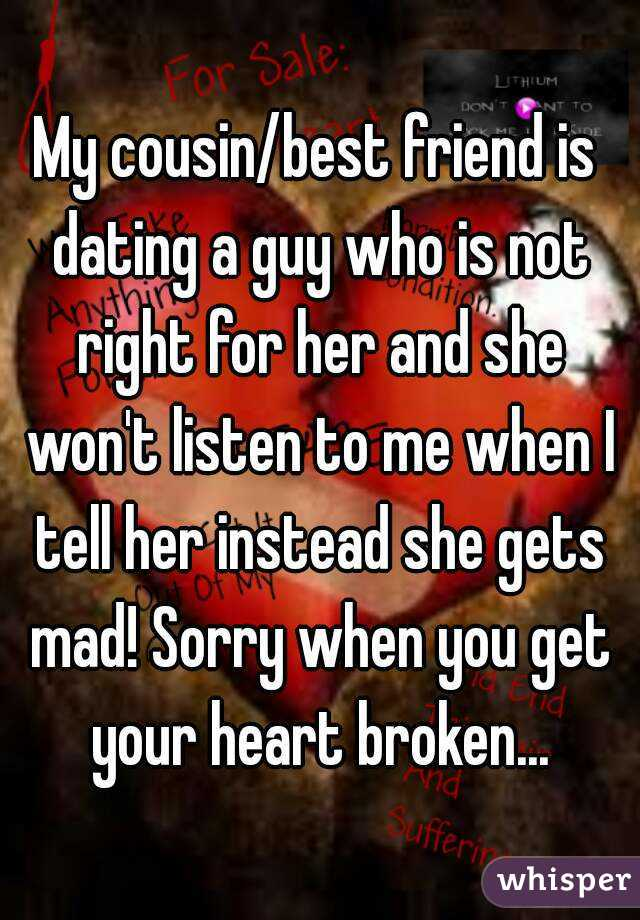 Her Cousin My Friend Dating Is