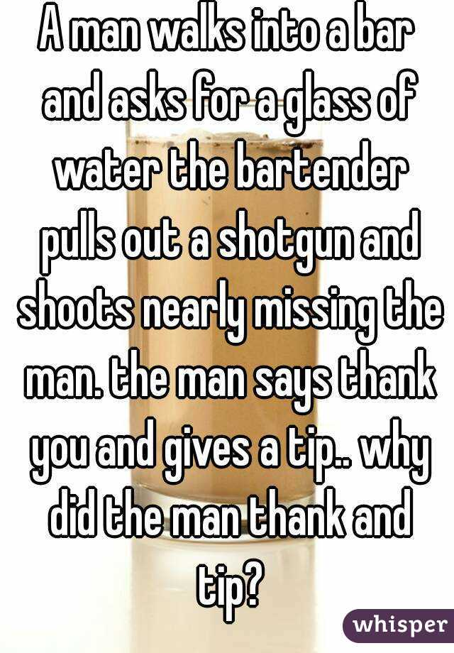 That guy walks by the bar 4