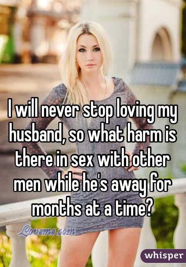 Sex after months away from partner