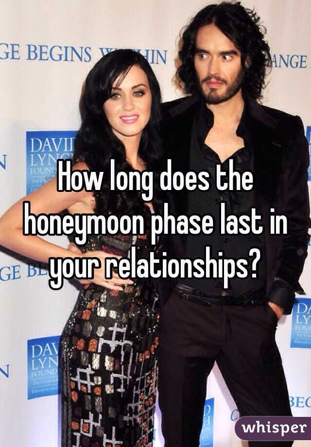 How long does the honeymoon stage last