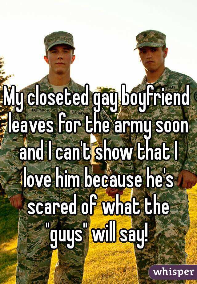 Gay military boyfriends