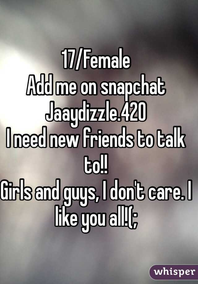 Add me girls
