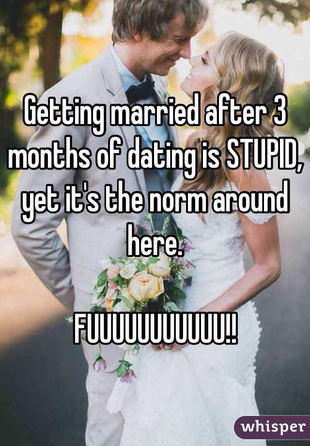 Married After 3 Months Of Dating