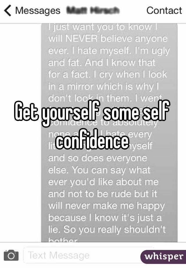 how to get confidence in yourself