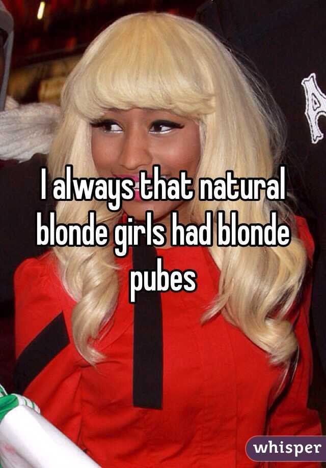Girls with blonde pubic hair sorry