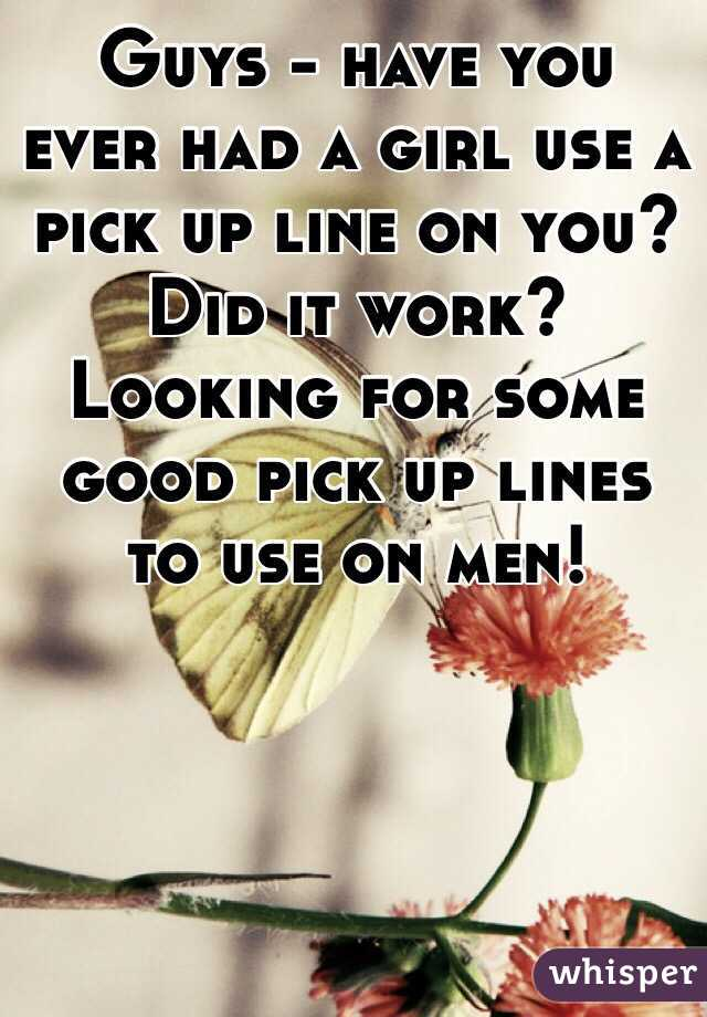 Lines guys use