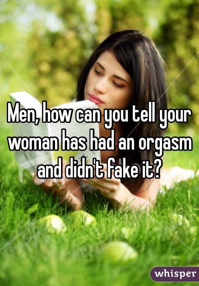 How to tell if a woman has had an orgasm