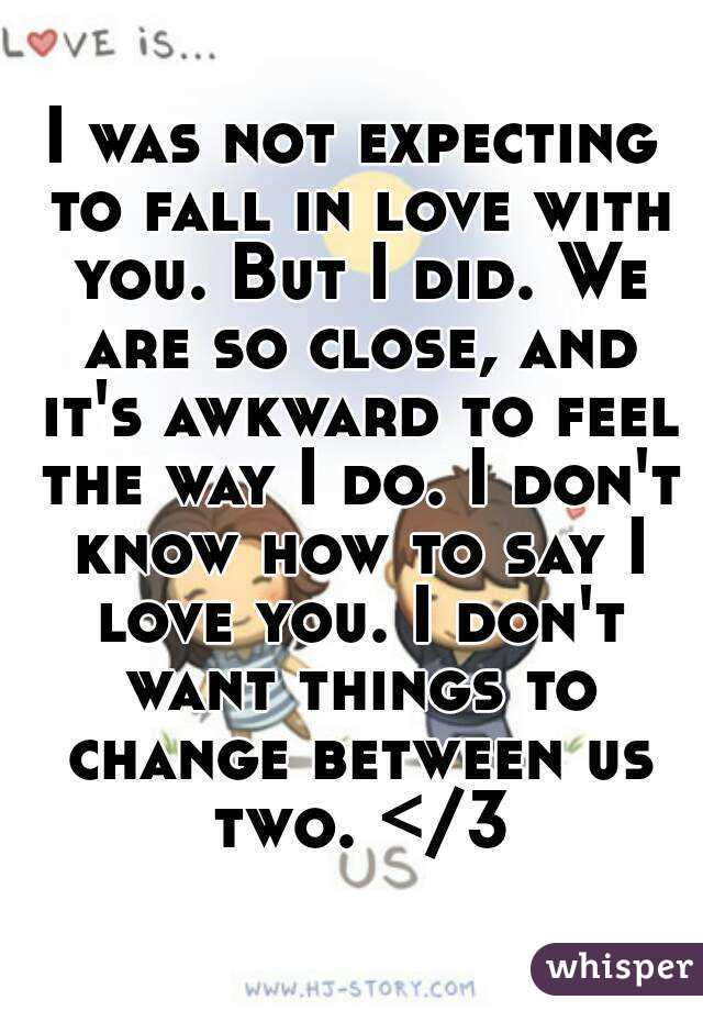 i don t want to fall in love with you